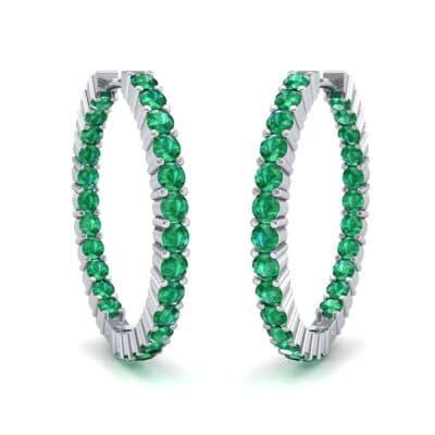 Luxe Emerald Hoop Earrings (1.56 Carat)