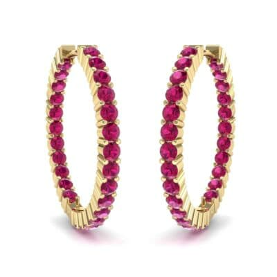 Luxe Ruby Hoop Earrings (1.56 Carat)