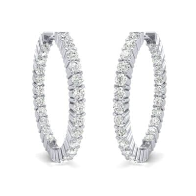 Luxe Diamond Hoop Earrings (1.56 Carat)