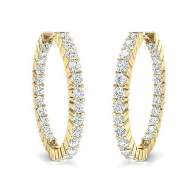 Luxe Diamond Hoop Earrings (1.56 Carat)
