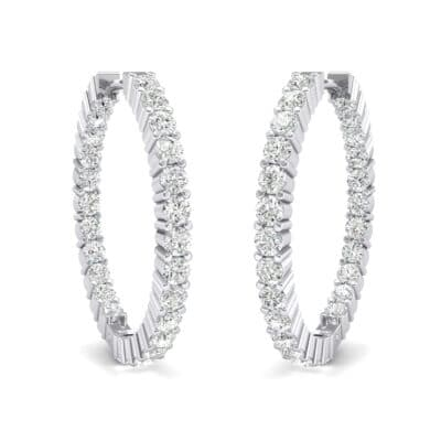 Luxe Crystals Hoop Earrings (1.56 Carat)