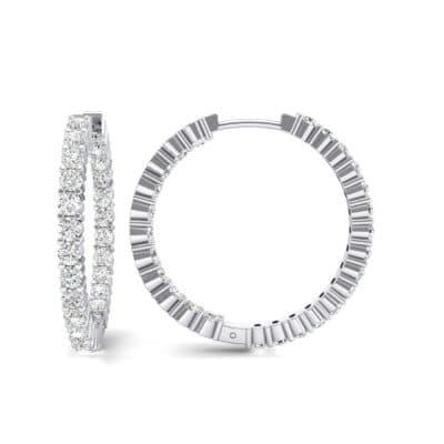 Luxe Crystal Hoop Earrings (1.56 CTW) Top Dynamic View