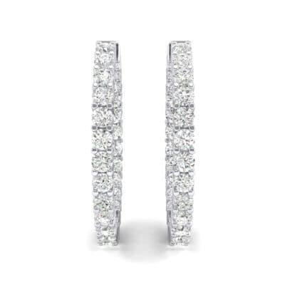 Luxe Crystal Hoop Earrings (1.56 CTW) Side View
