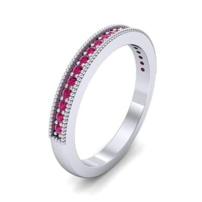 Milgrain Pave Ruby Ring (0.16 Carat)