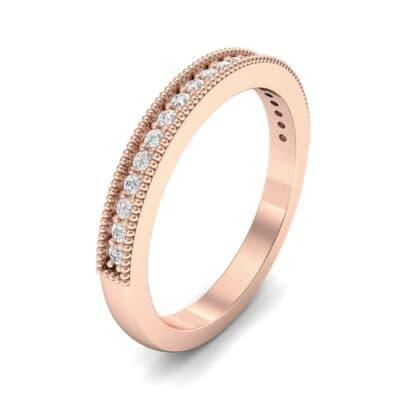 Milgrain Pave Diamond Ring (0.16 Carat)