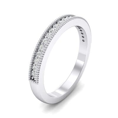 Milgrain Pave Crystal Ring (0.16 CTW) Perspective View