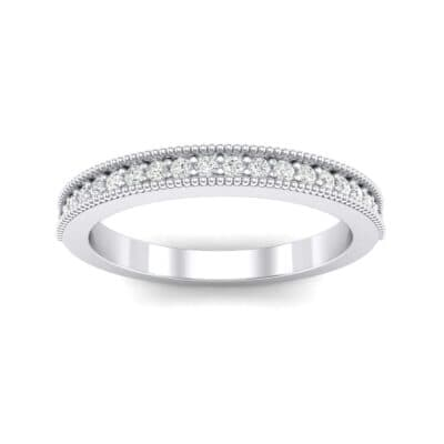 Milgrain Pave Crystal Ring (0.16 CTW) Top Dynamic View