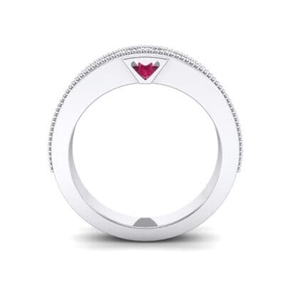 Tapered Milgrain Ruby Ring (0.44 CTW) Side View