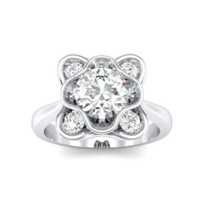 Flower Cup Crystals Engagement Ring (0.72 Carat)