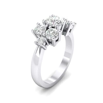 Tapered Seven-Stone Crystals Engagement Ring (1.5 Carat)
