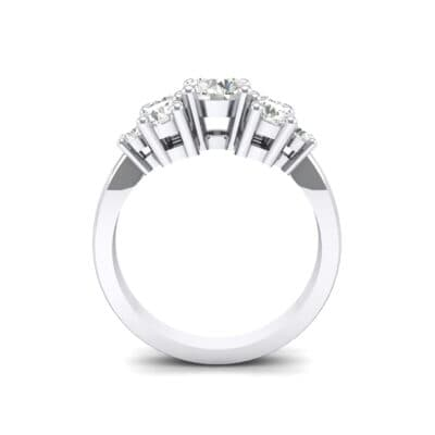 Tapered Seven-Stone Crystal Engagement Ring (1.5 CTW) Side View