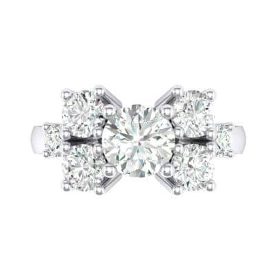Tapered Seven-Stone Crystal Engagement Ring (1.5 CTW) Top Flat View