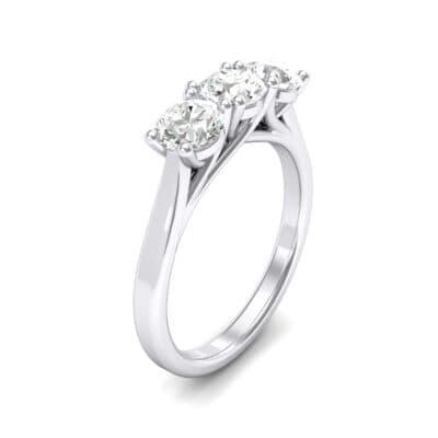Trinity Trellis Crystals Engagement Ring (1.05 Carat)