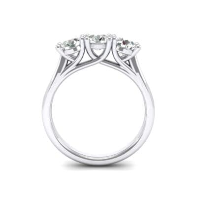 Trinity Trellis Crystal Engagement Ring (1.05 CTW) Side View