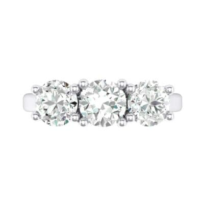Trinity Trellis Crystal Engagement Ring (1.05 CTW) Top Flat View