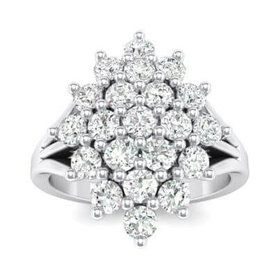 Era Split Shank Crystals Cluster Engagement Ring (1.68 Carat)
