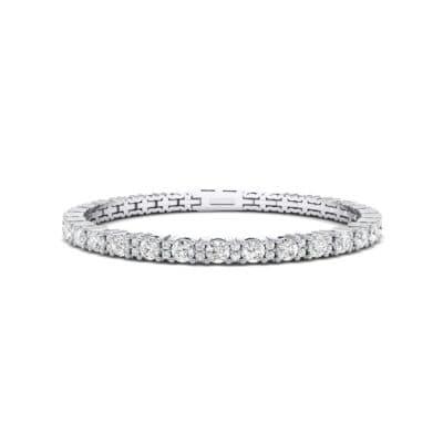 Thin Brilliant Round Crystals Tennis Bracelet