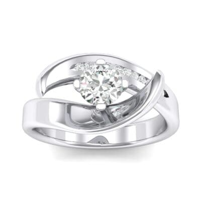 Dancer Crystals Bypass Engagement Ring (0.59 Carat)