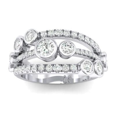 Triple Band Seven-Stone Crystals Ring (2.34 Carat)