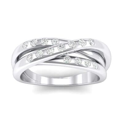 Rolling Triple Band Crystals Ring (0.3 Carat)