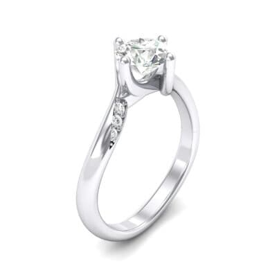 Contoured  Crystals Bypass Engagement Ring (0.78 Carat)