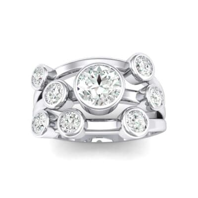 Triple Band Octave Crystals Ring (0.2 Carat)