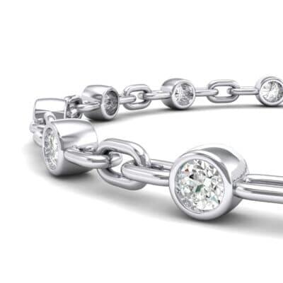 Bezel-Set Crystal Link Bracelet (0 CTW) Top Dynamic View