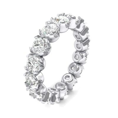 Round Brilliant Crystals Eternity Ring (1.28 Carat)