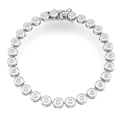 Tiny Bezel-Set Crystals Tennis Bracelet