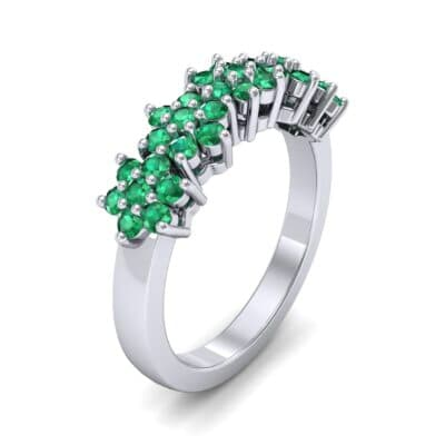 Five Flower Emerald Ring (0.7 Carat)