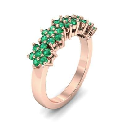 Five Flower Emerald Ring (0.7 Carat)
