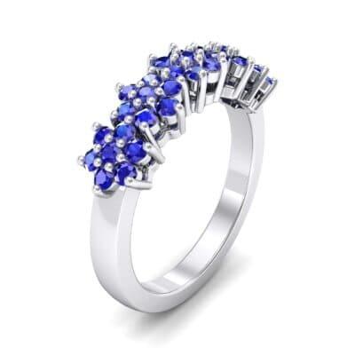Five Flower Blue Sapphire Ring (0.7 Carat)