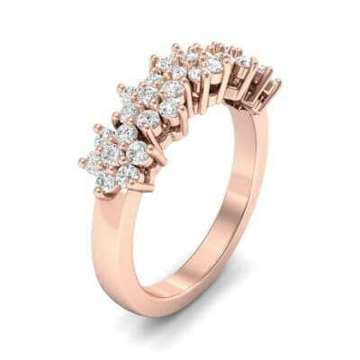 Five Flower Diamond Ring (0.44 Carat)