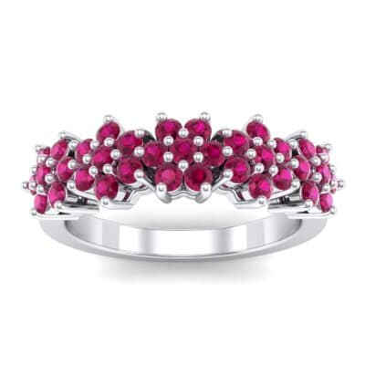 Five Flower Ruby Ring (0.7 Carat)