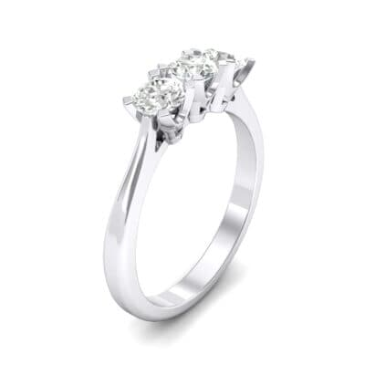 Tapered Trinity Crystals Engagement Ring (1.05 Carat)