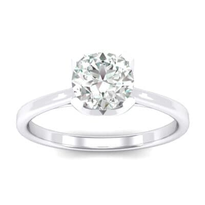 Tapered Trellis Solitaire Crystals Engagement Ring (0.7 Carat)