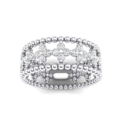 Clover Crystals Bead Ring (1.06 Carat)