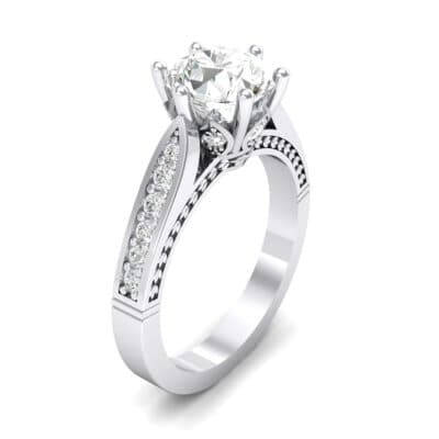 Coronet Engraved Crystals Engagement Ring (1.04 Carat)