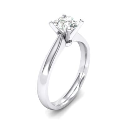 Tapered Cathedral Solitaire Crystal Engagement Ring (0.66 CTW)