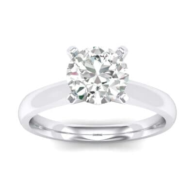 Tapered Cathedral Solitaire Crystals Engagement Ring (0.66 Carat)