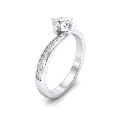 Compass Point Crystals Bypass Engagement Ring (0.46 Carat)