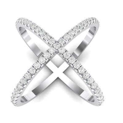 Pave Crystals X Ring