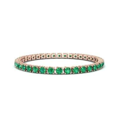 Round Brilliant Emerald Tennis Bracelet (11.4 Carat)