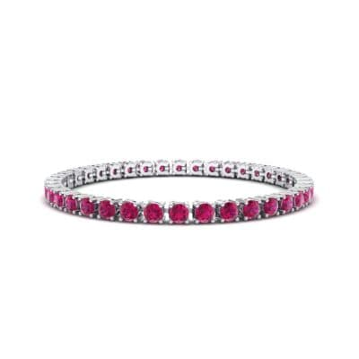 Round Brilliant Ruby Tennis Bracelet (11.4 Carat)
