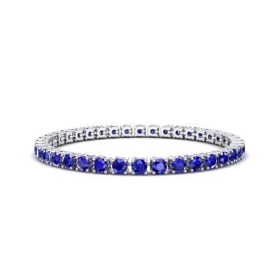 Round Brilliant Blue Sapphire Tennis Bracelet (11.4 Carat)