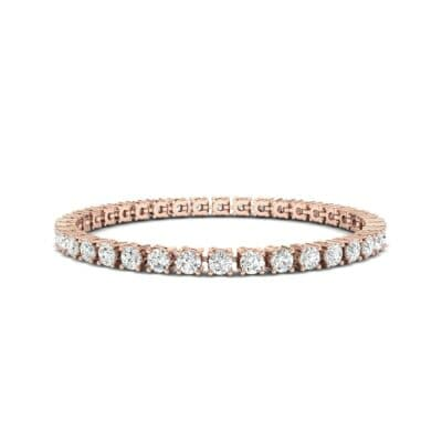 Round Brilliant Diamond Tennis Bracelet (7.98 CTW) Perspective View