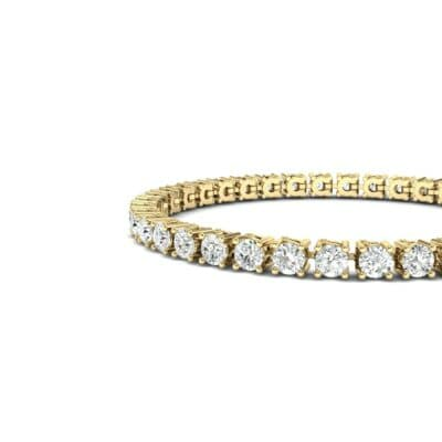 Round Brilliant Diamond Tennis Bracelet (7.98 CTW) Top Dynamic View