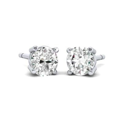 Classic Round Brilliant Crystals Stud Earrings