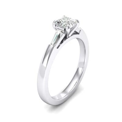 Tapered Baguette Princess-Cut Crystals Engagement Ring (0.64 Carat)