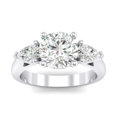 Pear Three-Stone Crystals Engagement Ring (1.05 Carat)